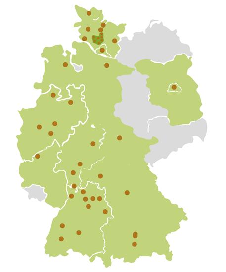 Unsere Standorte in und um Pinneberg